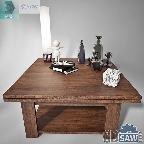 3ds Max Table Model - 3d Model Free Download - MX-1226