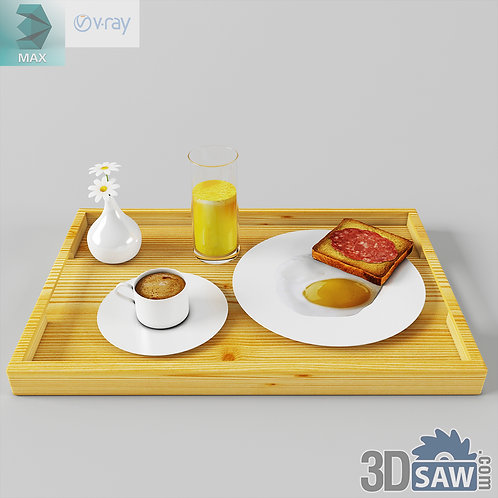 3ds Max Foods Tableware - Kitchen Items - 3d Model Free Download