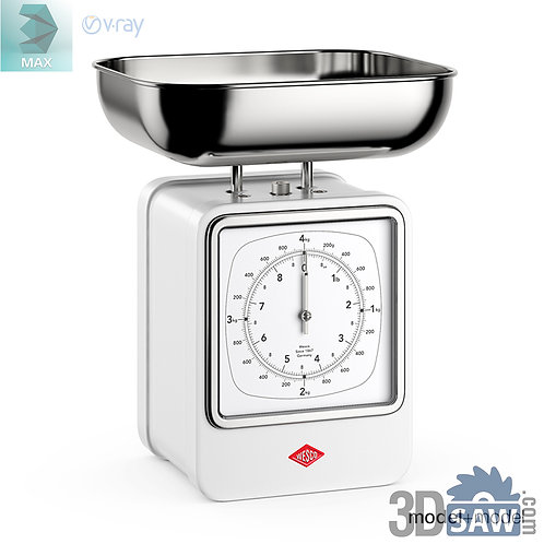 3ds Max Kitchen Scale - Kitchen Items - 3d Model Free Download