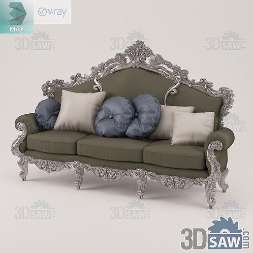 Sofa - Baroque Decor - Vintage Furniture - MX-440