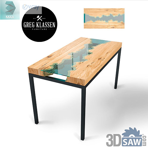3ds Max Table Model - 3d Model Free Download - MX-962