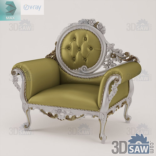 Armchair - Baroque Decor - Vintage Furniture - MX-0000385