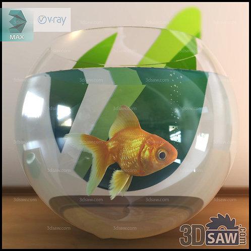 3ds Max Aquarium Glass Fish Tank - Pet Animals- 3DSAW.COM