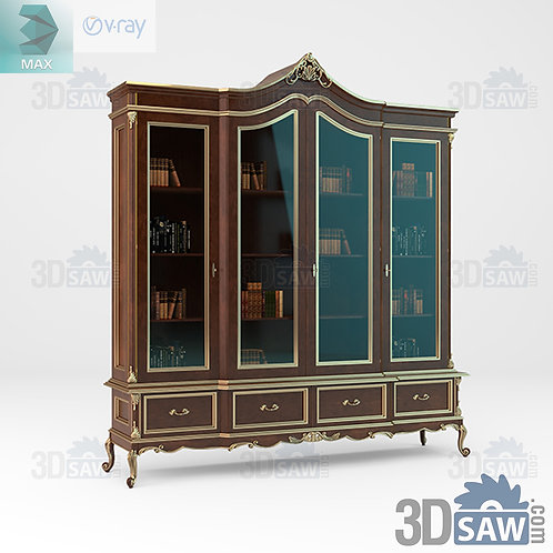Bookcase - Baroque Decor - Vintage Furniture - MX-435