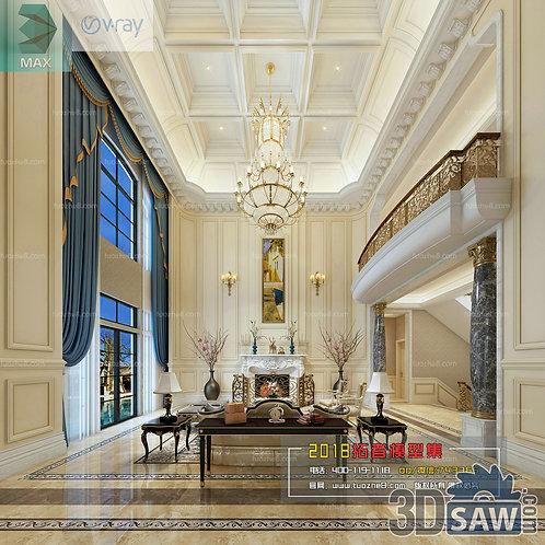 3d Model Interior Free Download - 3ds Max Living Room Decor - MX-1021