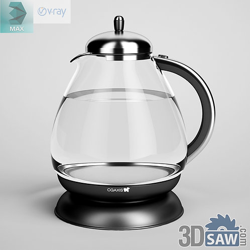 3ds Max Water Boiler Model - Kitchen Items - 3d Model Free Download