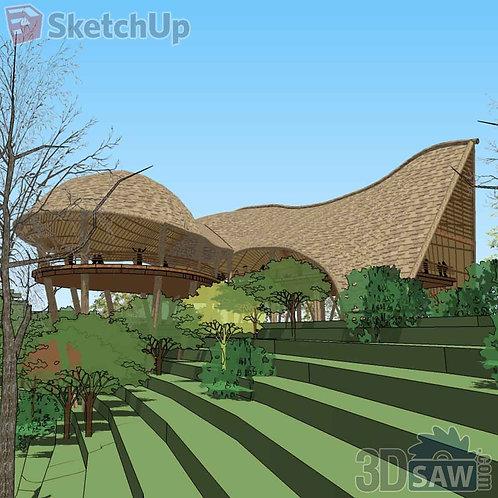 Tropical Suburb House Project-Terraces Country House - SU-0000009