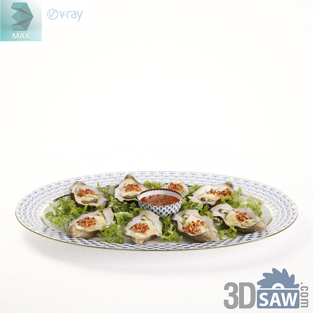 3ds Max Seafood Dishes Kitchen Items 3d Model Free