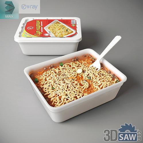3ds Max Foods Instant Noodles - Kitchen Items - 3d Model Free Download
