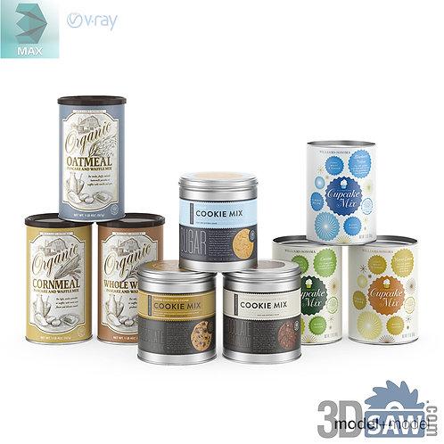 3ds Max Food Aluminium Cans  - Kitchen Items - 3d Model Free Download