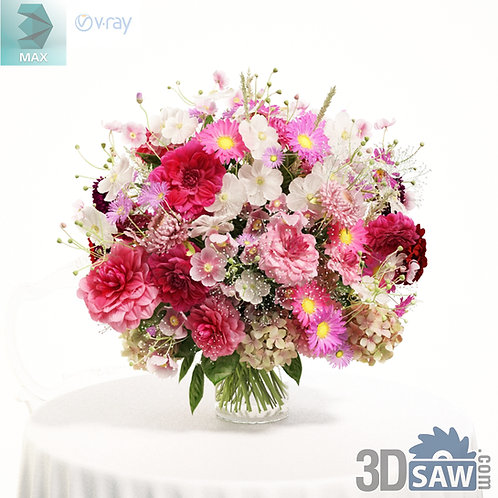 3ds Max Flower Vase - Tableware - 3d Model Free Download