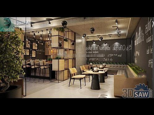 3d Interior Design - Coffee Shop Interior 3d Model  - 3DS Max Project - MX-775