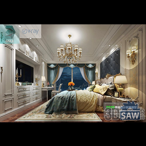 3d Model Interior Design Free Download - 3ds Max Bedroom Design - MX-933