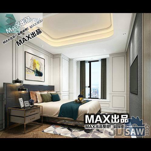 3d Model Interior Design Free Download - 3ds Max Bedroom Design - MX-906