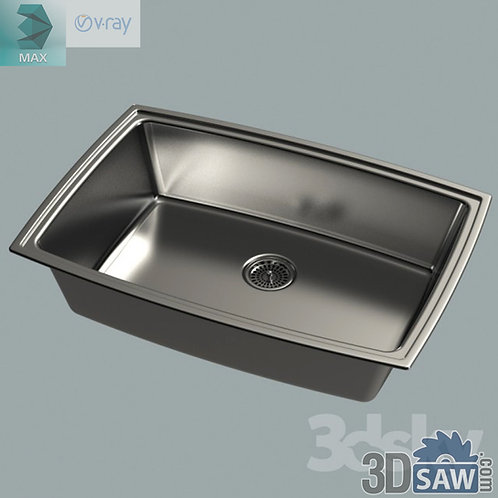 3ds Max Kitchen Sinks - Kitchen Items - 3d Model Free Download
