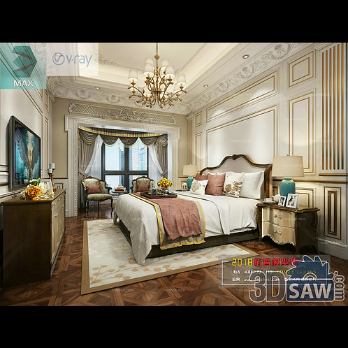 3d Model Interior Design Free Download - 3ds Max Bedroom Design - MX-914