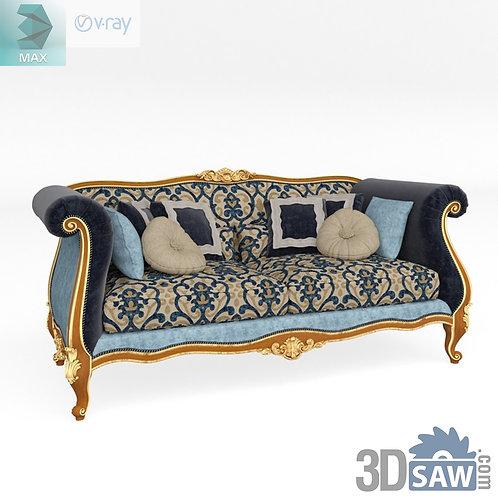 3 Seater Sofa - Baroque Decor - Vintage Furniture - MX-520
