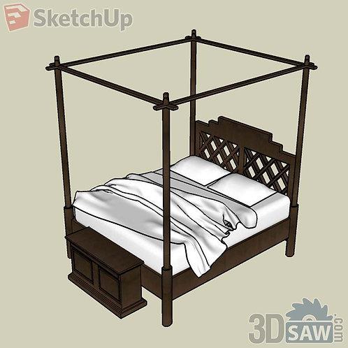 Bed - Bedroom Item Decor - SU-0000045