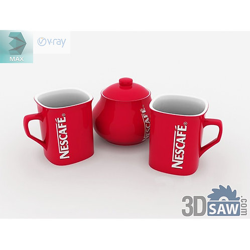 3ds Max Nescafe Coffee Cup - Kitchen Items - 3d Model Free Download