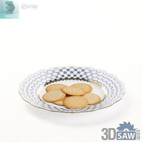 3ds Max Biscuit Dishes - Kitchen Items - 3d Model Free Download