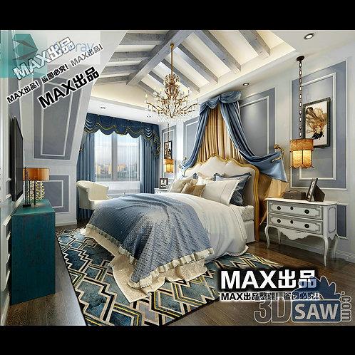 3d Model Interior Design Free Download - 3ds Max Bedroom Design - MX-915