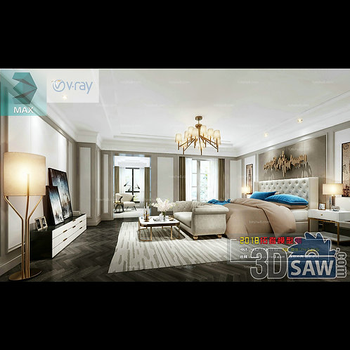 3d Model Interior Design Free Download - 3ds Max Bedroom Design - MX-924
