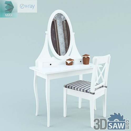 3ds Max Table Model - 3d Model Free Download - MX-1234