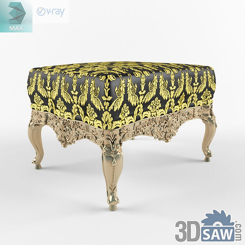 Pouf - Baroque Decor - Vintage Furniture - MX-489