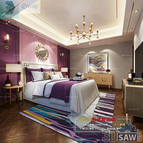3d Model Interior Design Free Download - 3ds Max Bedroom Design - MX-903