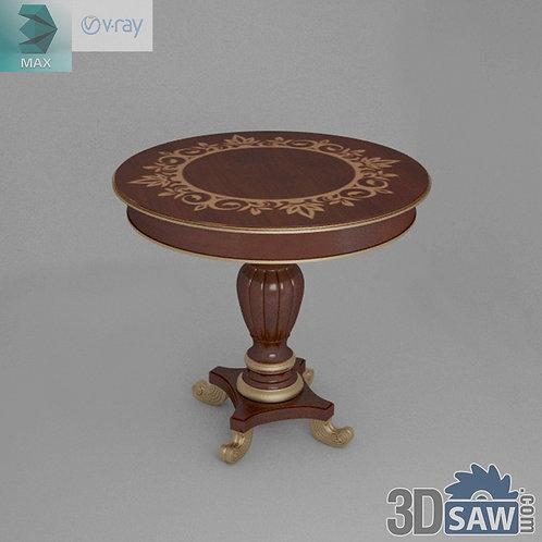Round Coffee Table - Baroque Decor - Vintage Furniture - MX-559