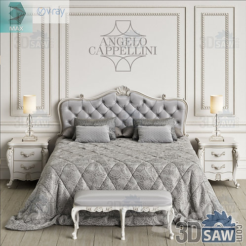 Bed Model - Bedroom Item Decor - MX-0000291