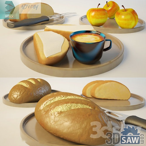 3ds Max Foods Bread Set  - Kitchen Items - 3d Model Free Download