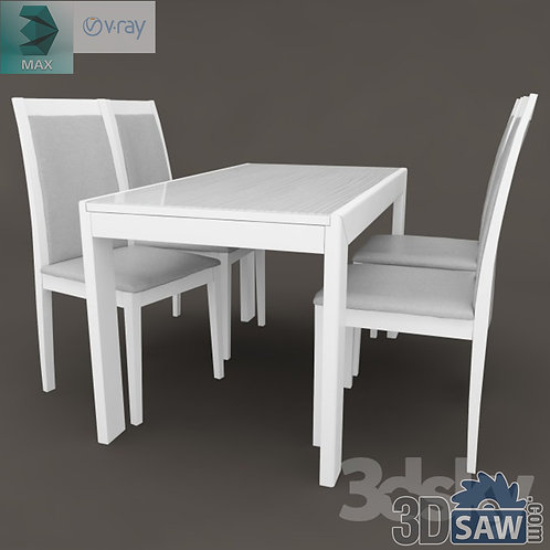 3ds Max Table And Chairs Model - 3d Model Free Download - MX-1081