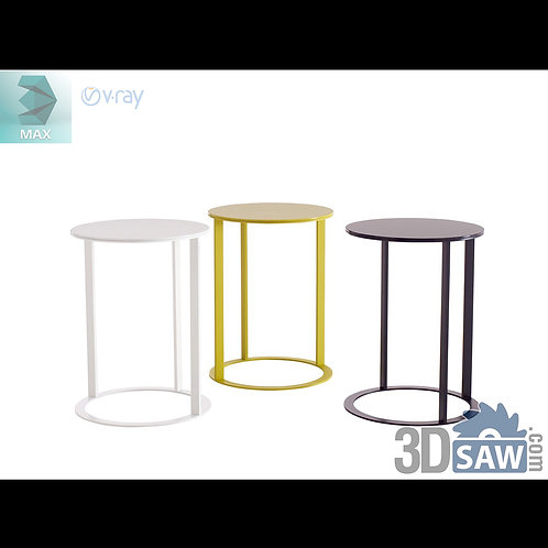 3ds Max Table And Chairs Model - 3d Model Free Download - MX-1177