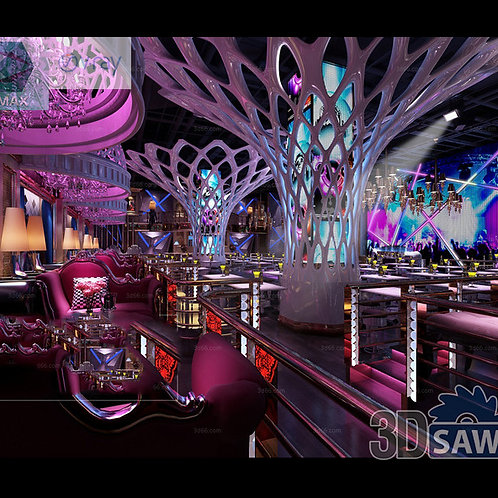 3d Interior Design - Nightclub 3d Interior - 3DS Max Project - MX-773