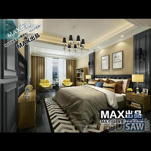 3d Model Interior Design Free Download - 3ds Max Bedroom Design - MX-921