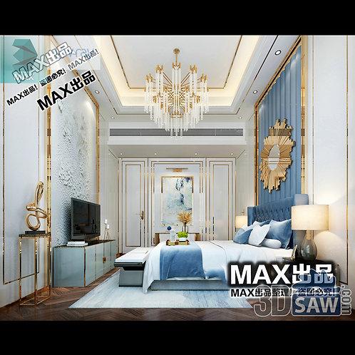 3d Model Interior Design Free Download - 3ds Max Bedroom Design - MX-901
