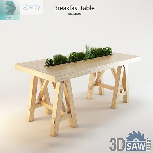 Table Model - Table Solid Wood - MX-586