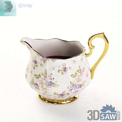 3ds Max Milk Pot - Kitchen Items - 3d Model Free Download