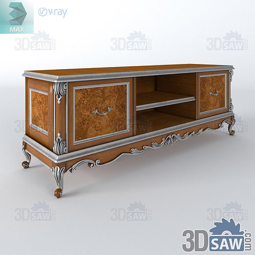 TV Stand Cabinet - Baroque Decor - Vintage Furniture - MX-424