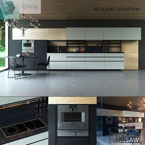 Kitchen Cabinets Casework - Kitchen Room Design - MX-636