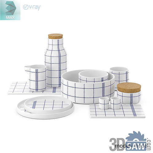 3ds Max Bowl Set - Kitchen Items - 3d Model Free Download