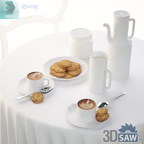 3ds Max Tableware Set - Kitchen Items - 3d Model Free Download