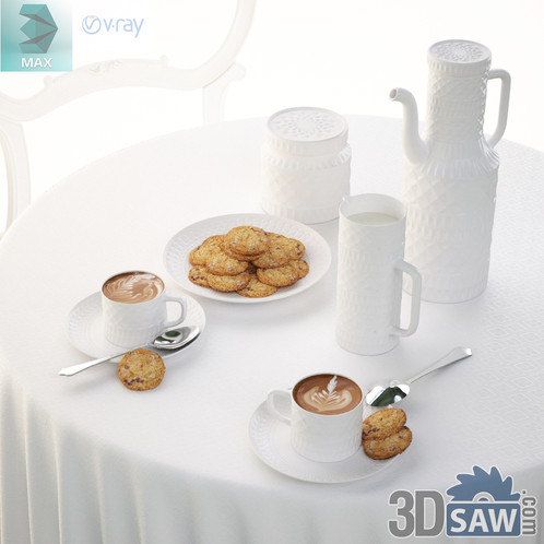 3ds Max Tableware Set Kitchen Items 3d Model Free Download