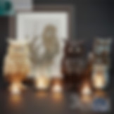 3ds Max Catbird Owls Statue Sculpture Decor Set With Candle And Picture Frame - Animals - Free 3d Models Download - 3DSAW.COM