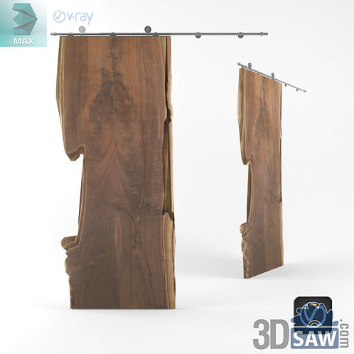 Wood Slat Sliding Door - Solid Wood - MX-601