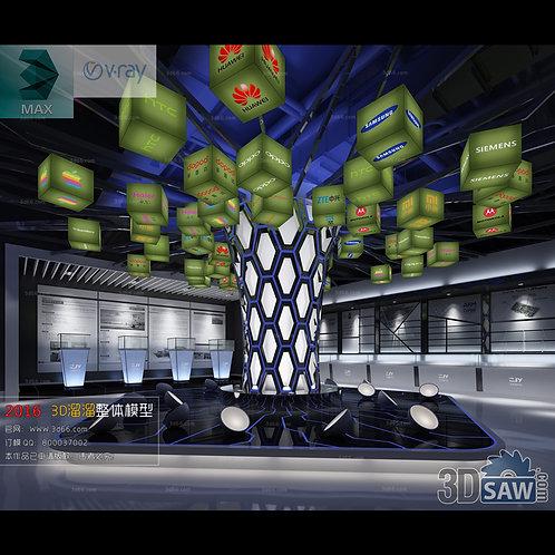 3d Interior Design - Cell Phone Stores Decor - 3DS Max Shop - Store Decoration