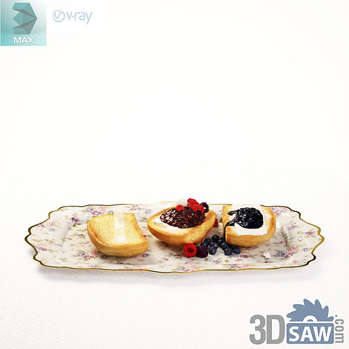 3ds Max Food - Cake - Kitchen Items - 3d Model Free Download