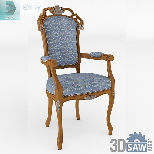 Chair With Armrests - Baroque Decor - Vintage Furniture - MX-528