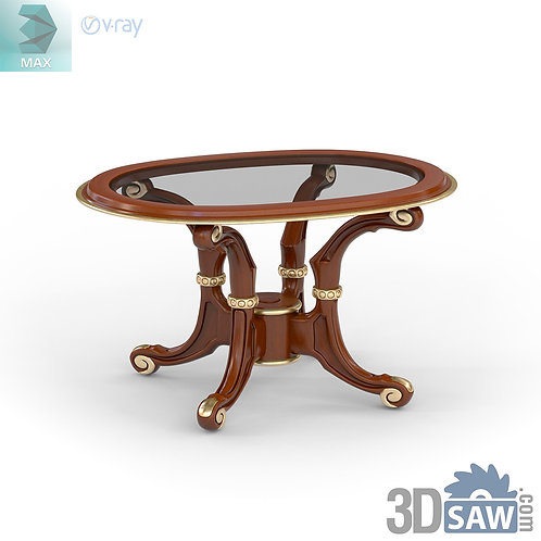 Round Coffee Table - Baroque Decor - Vintage Furniture - MX-537